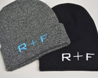 90c555b7f50 R+F hat knit beanies Rodan Fields Promotional Gifts R and F Knit Hat  Personalized Beanie Custom Hats Winter Hat Black Pink Grey Olive Green