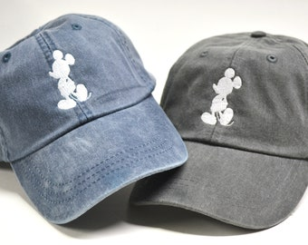 Mickey Mouse Silhouette Head Hat Disney Baseball Caps Custom Embroidered  Baseball cap Family Vacation Hats Disney World Vacation Hat 7639c09b889