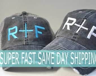 346c8538ddd Rodan+Fields hat R+F Distressed Women Trucker Hat Mesh Back Denim Cap Gifts  Embroidery Hat Gift Custom embroidered hat