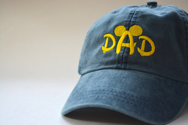 0f87910a49a87 DAD Mickey Mouse Ears Head Hat Disney Baseball Caps Custom