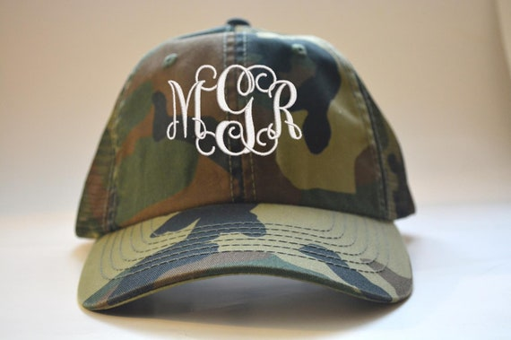 9a65105a67cbb Monogrammed camo black and white Women s Trucker Hat
