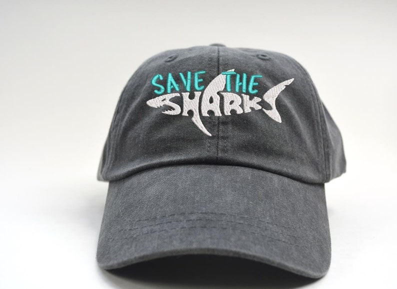 d1fe2144 Save The Sharks Embroidered baseball Cap Hat Personalized | Etsy