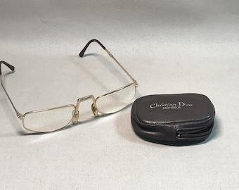3fd5ea4ccf89 Men's Gold 1980's Christian Dior Glasses
