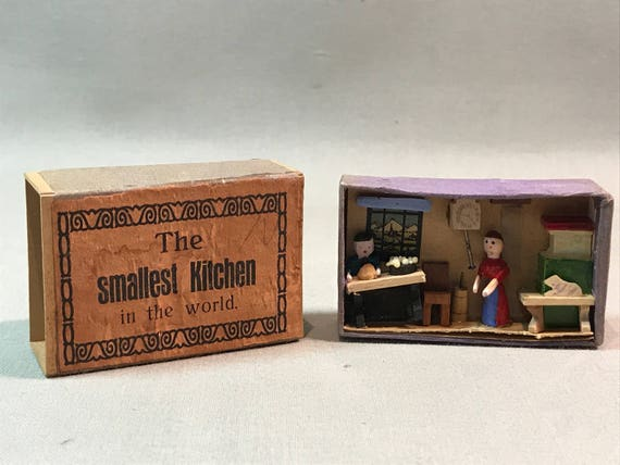 World S Smallest Kitchen In A Matchbox Diorama Made In Etsy