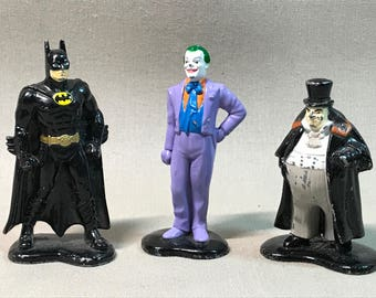 Trio of ERTL Die Cast Batman Figurines, 1990-1992