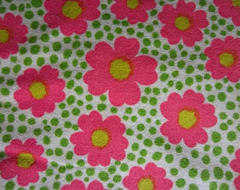 bc52fee28e Vintage Floral Terry Cloth Fabric With Yardage circa the 70's