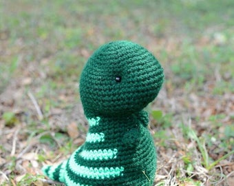 Crochet animal - stuffed dinosaur - Timothy - crochet T-Rex - stuffed animal T-Rex - green stuffie
