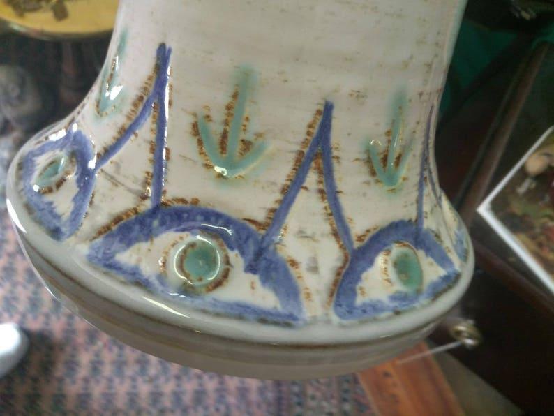 Vintage Old Soholm Bormholm Denmark Stentoj Scandanavian Art Pottery Vase