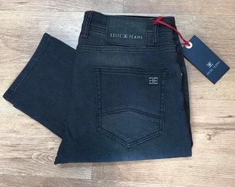 e763976414e New Designer Mens Slim Fit Stretch Jeans Denim Pants All Waist Sizes