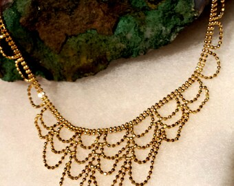 14 kt yellow Turkish gold necklace! 7.2 grams!