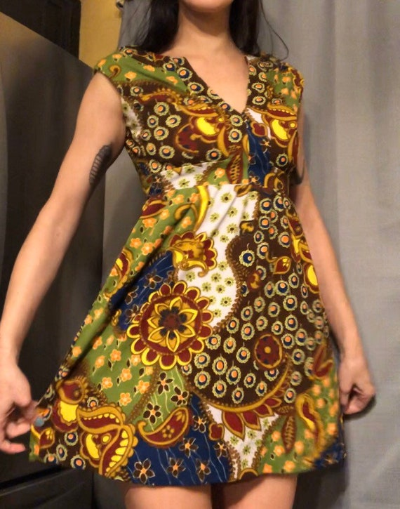 1970s psychedelic dress by Act I