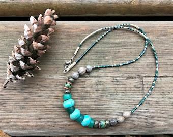 Turquoise bracelet boho Hubei turquoise bracelet copper bracelet jobs tears bracelet