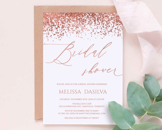 Made to order Wedding Printable Vintage Bridal Shower Invitation Downloadable File Many color options