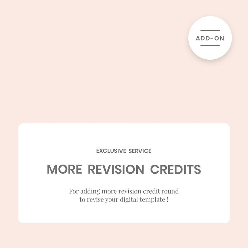 Add more revision credit rounds for more of your personalize image 0