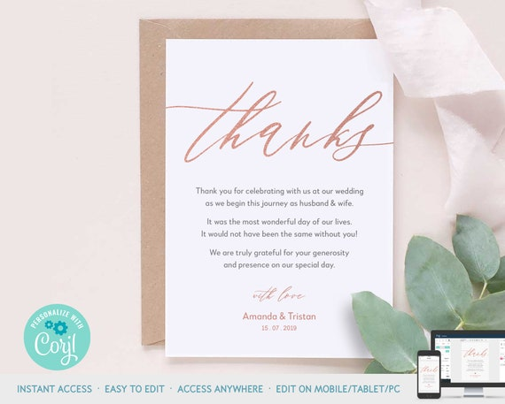 This is a picture of Thank You Card Printable inside flower