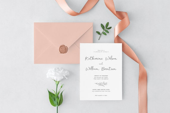 Rustic Wedding Invitation Template Editable Wedding