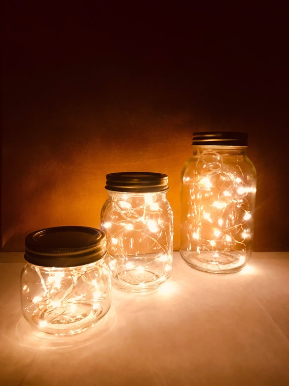 Mason Jar Night Lights Fairy Lights Mason Jar Lights Etsy