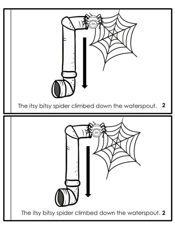 image relating to Itsy Bitsy Spider Printable known as Nursery Rhyme Printable, Itsy Bitsy Spider Nursery Rhyme, Nursery Rhyme Clroom Printable, Homeschool Curriculum, Preschool Curriculum