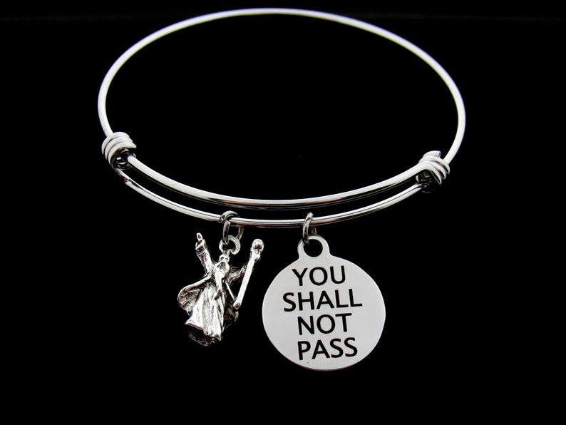 8fee905a95f30 Gandalf - Charm Bracelet - You Shall Not Pass - Lord Of The Rings