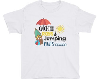 Youth Short Sleeve T-Shirt - Catching Rays and Jumping Waves: Summer and Springtime
