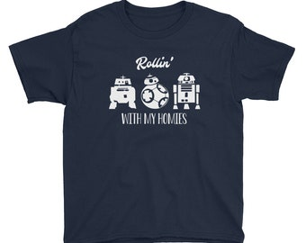 Youth Short Sleeve T-Shirt - Star Wars: Rollin' With my Homies