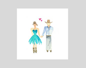 Card -  Turquoise Lovers