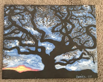 Landscape, Canvas, Panting, trees, art, holidays, gift