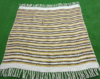 Baby Blanket Blankie Spring Wrap Headband Chenille Shaggy Nubby Green Blue Yellow Hand Knit Photo Prop Lap Quilt Carriage Cover Throw