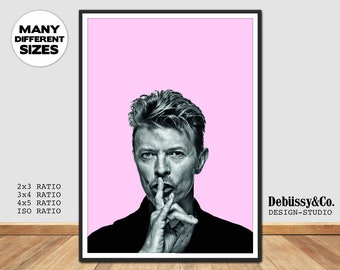 David Bowie poster, David Bowie Print, Bowie print, Bowie poster, David Bowie wall art, David Bowie Photo art, Bowie photography