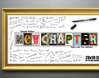 9209af06a64 Going Away Gift Coworker farewell gift New Chapter Print New Chapter Sign  Good Luck Gift Farewell Gift Coworker Coworker Leaving