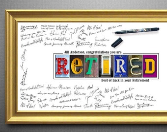 Caricature from photo  retirement guestbook  guest book with retirement wishes Retirement Guest Book