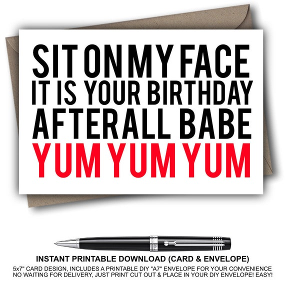 Naughty Birthday Card For Her Sexy