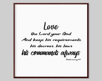 Deuteronomy 11:1 Bible verse about love - Love the Lord your God