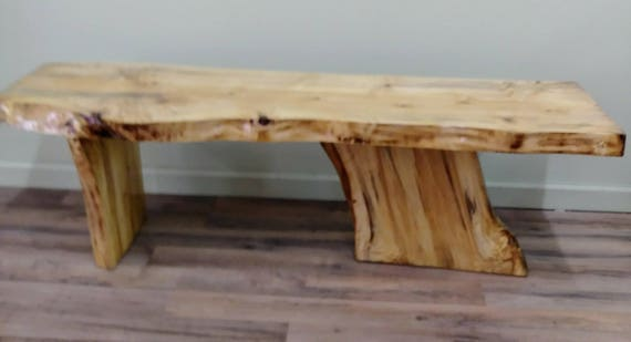 Incredible Live Edge Poplar Wood Coffee Table Natural Wood Lodge Furniture Rustic Country Handmade Ooak Machost Co Dining Chair Design Ideas Machostcouk