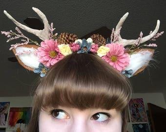 """Antler Flower Crown, """"Dawn"""""""