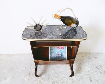 50s table/Side table/Newspaper trolley/trolley/vintage Table/mid century Table/newspaper stand Wood