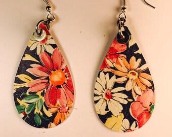 Teardrop earrings, Drop earrings, 2 inch earrings, Large earrings