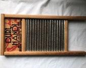 Dubl Handi Mini Lingerie Washboard - Wood Metal Ribbed - Columbus Washboard Co for Silks, Hosiery, Handkerchiefs, Bucket Sink Washing