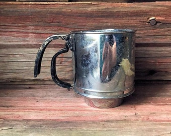 One Cup Small Flour Sifter with Black Handle