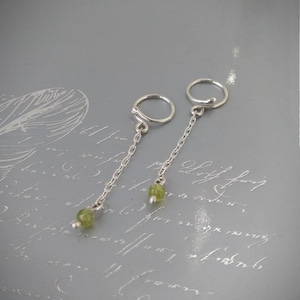 Fake Piercing Solid sterling Silver Non Piercing Nipple Rings With labradorite beads gift for wife