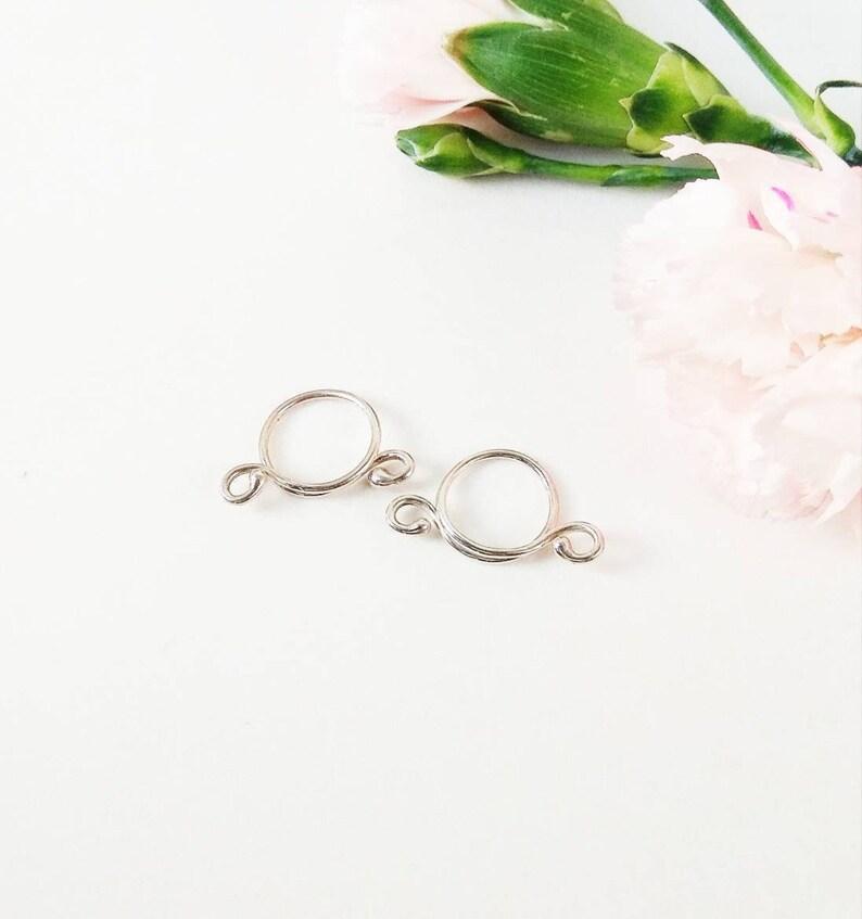 Silver Nipple Rings Non Piercing adjustable Nipple Ring