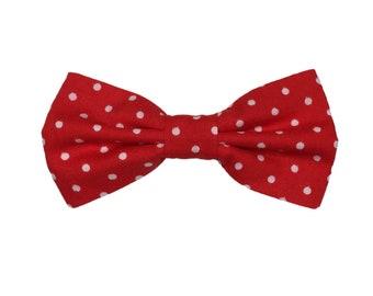 Handmade Red Polka Dot Dog/ Cat Bow Tie