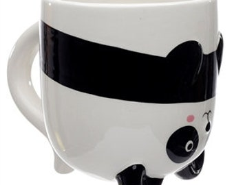 Upside Down Pandarama Ceramic Mug Mum Gift Someone Special, Best Friend, Family. One Of A Kind, For Him, For Her