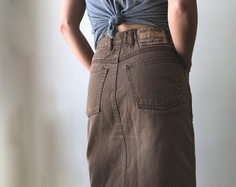 vintage brown jean skirt by Jaxi's Classic! 11/12
