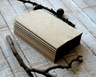 A3 size 5 sheets Tea Dyed Stained Paper for Journals Handmade Aged Paper