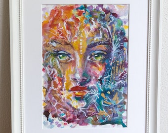 Eyes of Buddha - original art