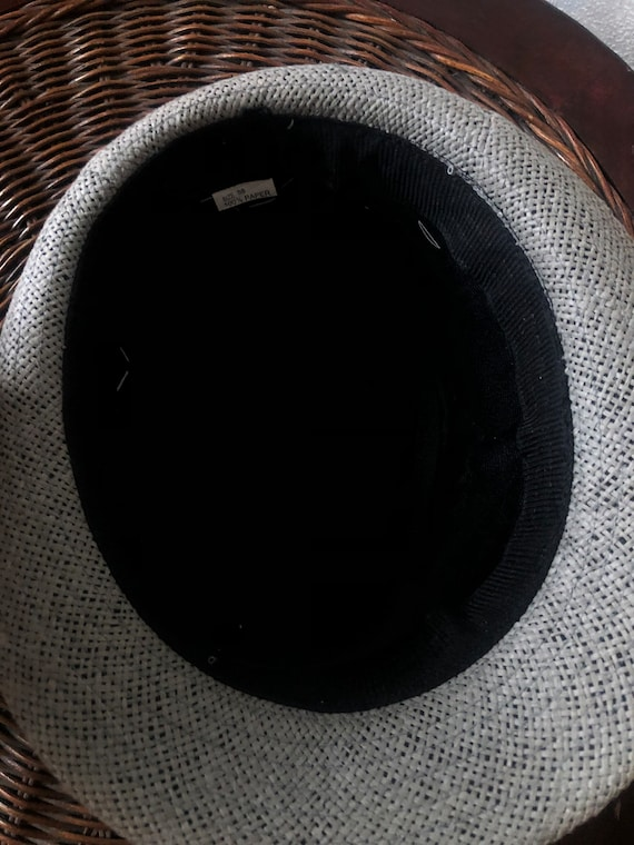 Ladies summer straw trilby hat with lace 57cm - image 5
