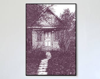House of memories in a shady garden
