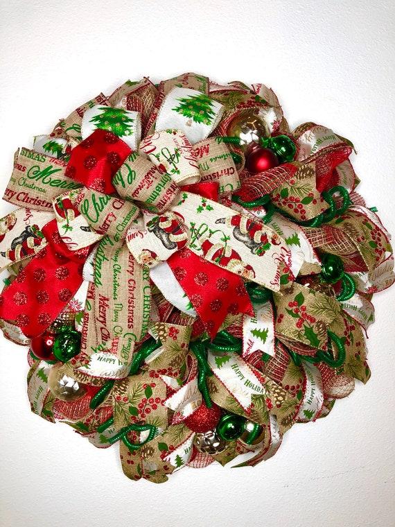 Small Christmas Wreaths.Rustic Christmas Wreath Farmhouse Xmas Wreath Christmas Door Decor Small Christmas Wreath Primitive Christmas Wreath Front Door Wreath