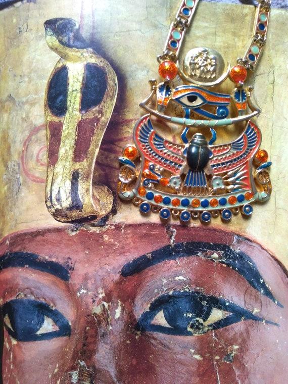 "Egyptian ""pectoral Tutankhamun"" necklace-Egypt rev"